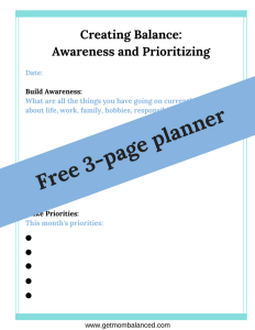 This free 3-page planner will help you create balance.