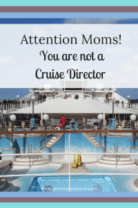 Moms: don't feel guilt when you take time for yourself. We are not cruise directors in our kids lives. Letting our kids have time to themselves and to be bored is good for everyone.