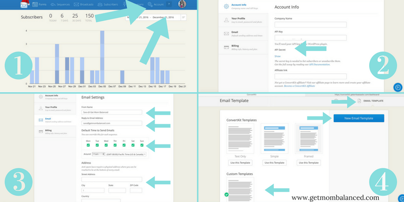 The basics of setting up your account and email template in ConvertKit