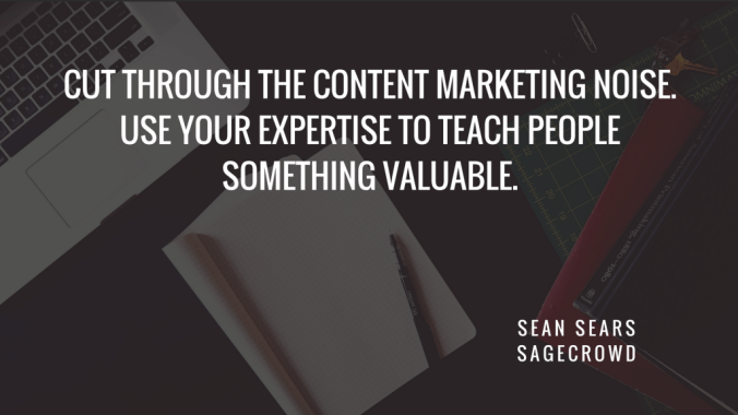 Sean Sears HR marketing quote