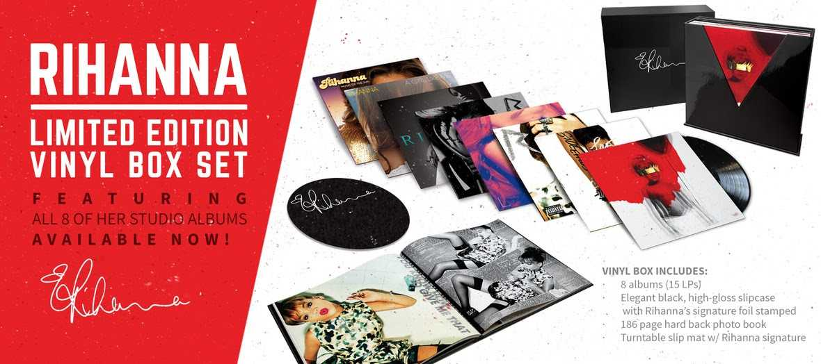 Rihanna Releases Limited Edition Vinyl Box Set, Featuring All 8 of Her Studio Albums