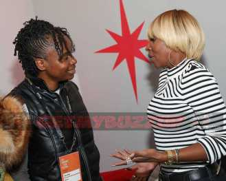 PARK CITY, UT - JANUARY 21: Dee Rees and Mary J. Blige at the 'Mudbound' party in the Stella Artois Filmmaker Lounge during the Sundance Film Festival on January 21, 2017 in Park City, Utah. (Photo by Rick Kern/Getty Images for Stella Artois)
