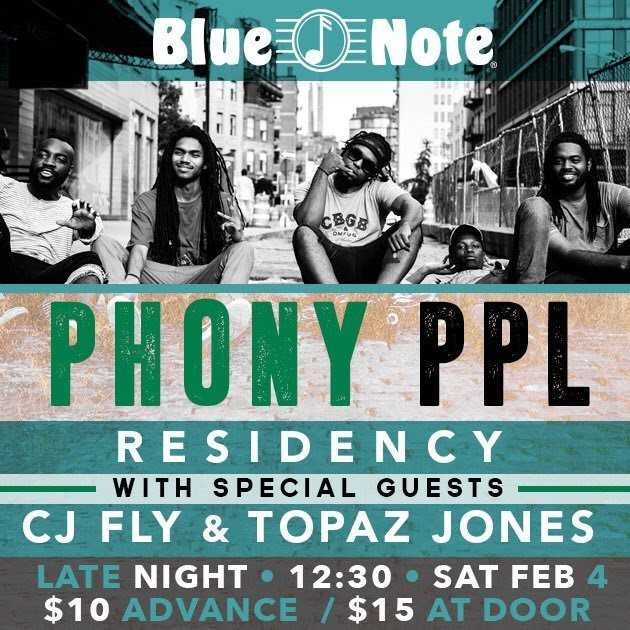 Phony Ppl & CJ Fly Will Be Live at The Blue Note in Brooklyn on Feb. 04 [Music Event]