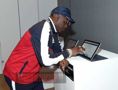 NEW YORK, NY - JUNE 14: Lil Yachty checks out the new Samsung Galaxy Book during the Samsung Galaxy Book Launch at Samsung 837 on June 14, 2017 in New York City. (Photo by Jamie McCarthy/Getty Images for Samsung)