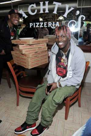 -New York, NY - 8/25/17- Yachty`s Pizzeria -PICTURED: Lil Yachty -PHOTO by: Startraksphoto.com -BDP_9212 Editorial - Rights Managed Image - Please contact www.startraksphoto.com for licensing fee Startraks Photo New York, NY For licensing please call 212-414-9464 or email sales@startraksphoto.com Image may not be published in any way that is or might be deemed defamatory, libelous, pornographic, or obscene. Please consult our sales department for any clarification or question you may have. Startraks Photo reserves the right to pursue unauthorized users of this image. If you violate our intellectual property you may be liable for actual damages, loss of income, and profits you derive from the use of this image, and where appropriate, the cost of collection and/or statutory damages.