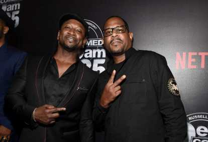 Joe Torry and Martin Lawrence arrives at Def Comedy Jam 25, A Netflix Original Comedy Event, in Beverly Hills on Sunday September 10th.