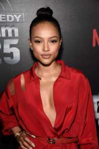 Karrueche Tran arrives at Def Comedy Jam 25, A Netflix Original Comedy Event, in Beverly Hills on Sunday September 10th.