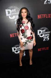 Angela Simmons arrives at Def Comedy Jam 25, A Netflix Original Comedy Event, in Beverly Hills on Sunday September 10th.