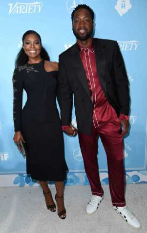 Mandatory Credit: Photo by Richard Shotwell/Variety/REX/Shutterstock (9064179bj) Gabrielle Union and Dwyane Wade Variety and Women in Film Emmy Nominee Celebration, Arrivals, Los Angeles, USA - 15 Sep 2017