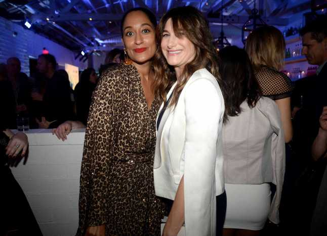 Mandatory Credit: Photo by Andreas Branch/Variety/REX/Shutterstock (9064182bc) Tracee Ellis Ross and Kathryn Hahn Variety and Women in Film Emmy Nominee Celebration, Inside, Los Angeles, USA - 15 Sep 2017