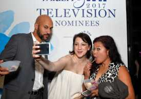 Mandatory Credit: Photo by Stewart Cook/Variety/REX/Shutterstock (9064188an) Keegan-Michael Key and Elisa Pugliese Variety and Women in Film Emmy Nominee Celebration sponsored by Halo Top, Los Angeles, USA - 15 Sep 2017