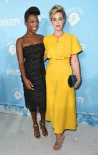 Mandatory Credit: Photo by Richard Shotwell/Variety/REX/Shutterstock (9064179cc) Samira Wiley and Lauren Morelli Variety and Women in Film Emmy Nominee Celebration, Arrivals, Los Angeles, USA - 15 Sep 2017