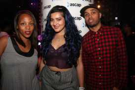 ASCAP's Nicole George-Middleton with Dounia and ASCAP Senior Director of Creative, Jonathan Jones