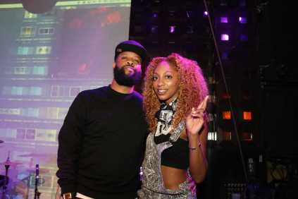 "Lowkey, last night's ASCAP ""On The Come Up"" host, with DJ C. Devone"