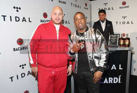 NEW YORK, NY - OCTOBER 17: Fat Joe (L) and Yo Gotti attend the TIDAL X benefit concert powered by BACARDI and hosted by Fat Joe at Barclays Center of Brooklyn on October 17, 2017 in New York City. (Photo by Monica Schipper/Getty Images for BACARDI) *** Local Caption *** Fat Joe;Yo Gotti