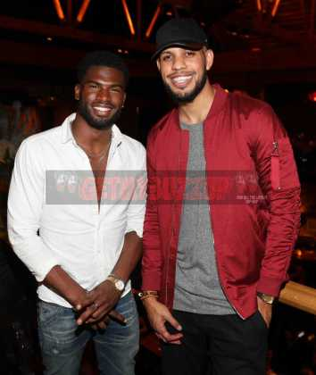 LOS ANGELES, CA - NOVEMBER 02: Broderick Hunter (L) and Sarunas Jackson attend The MVP Experience Launch Dinner hosted by The House of Remy Martin at Tao on November 2, 2017 in Los Angeles, California. (Photo by Jerritt Clark/Getty Images for Remy Martin)