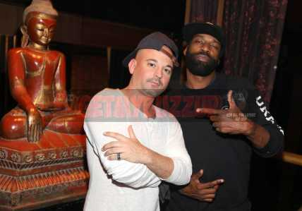 LOS ANGELES, CA - NOVEMBER 02: Croatianstyle (L) and Baron Davis attend The MVP Experience Launch Dinner hosted by The House of Remy Martin at Tao on November 2, 2017 in Los Angeles, California. (Photo by Jerritt Clark/Getty Images for Remy Martin)
