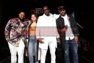 LAS VEGAS, NV - NOVEMBER 09: (L-R) Rap920, Rebe Espinosa, Theo Brown, and Jay Claxton attend The Remy Martin Producers Series Season 4 Finale on November 9, 2017 in Las Vegas, Nevada. (Photo by Johnny Nunez/Getty Images for Remy Martin)