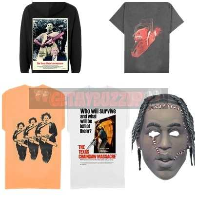 """Travis Scott Debuts Exclusive Halloween-Inspired Merchandise Collection in Collaboration With 1974 Horror Classic """"The Texas Chainsaw Massacre"""""""