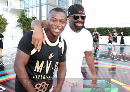 MIAMI BEACH, FL - DECEMBER 08: O.T. Genasis (L) and DJ Irie attend The House Of Remy Martin Presents The MVP Experience In Miami at W South Beach on December 8, 2017 in Miami Beach, Florida. (Photo by Johnny Nunez/Getty Images for Remy Martin)