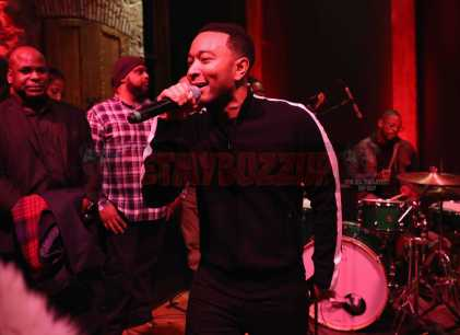 PARK CITY, UT - JANUARY 20: John Legend performs as The House of Remy Martin celebrates the APEX Social Club at the WanderLuxxe House with Common and Friends on January 20, 2018 in Park City, Utah. (Photo by Johnny Nunez/Getty Images for Remy Martin)