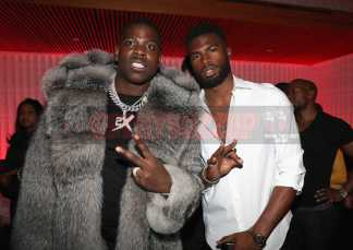 NEW YORK, NY - JANUARY 27: Casanova (L) and Broderick Hunter attend The House Of Remy Martin Presents The Culture Creators Pre-Grammy Party at Megu New York on January 27, 2018 in New York City. (Photo by Johnny Nunez/Getty Images for Remy Martin)