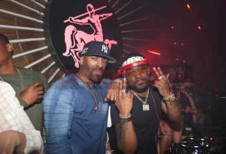 LOS ANGELES, CA - FEBRUARY 18: DJ Clue (L) and Stevie J perform at the LIV On Sunday For MVP Weekend event At Avenue Los Angeles Hosted By French Montana and presented By Remy Martin on February 18, 2018 in Los Angeles, California. (Photo by Johnny Nunez/Getty Images for Remy Martin)