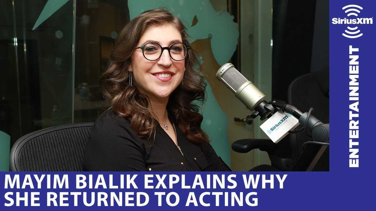 Mayim Bialik returned to acting because she needed health insurance