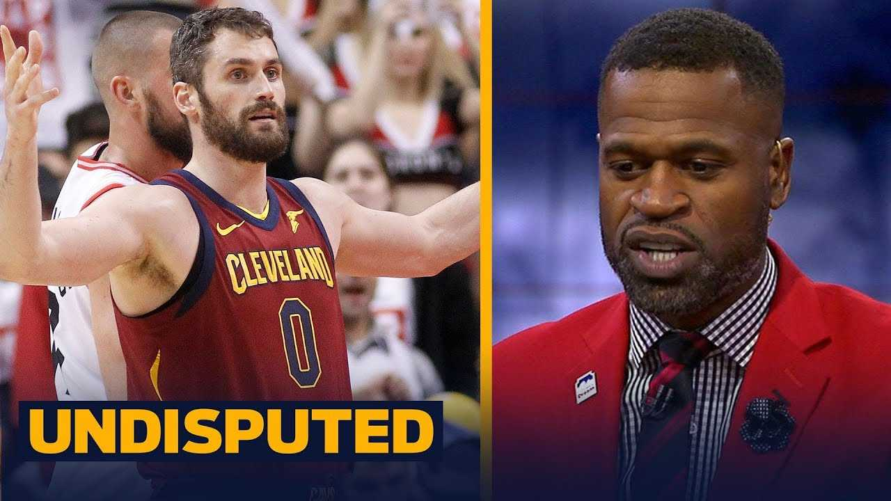 Stephen Jackson reacts to Kevin Love's flagrant foul in Game 1 vs. the Raptors   NBA   UNDISPUTED
