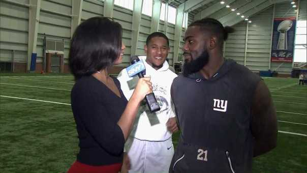 Taylor Rooks talks to Landon Collins, and a guest video bomber