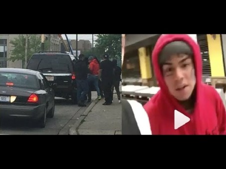6ix9ine gets exposed for rolling through Chiraq with the Police / Security by Chief Keef & Lil Reese