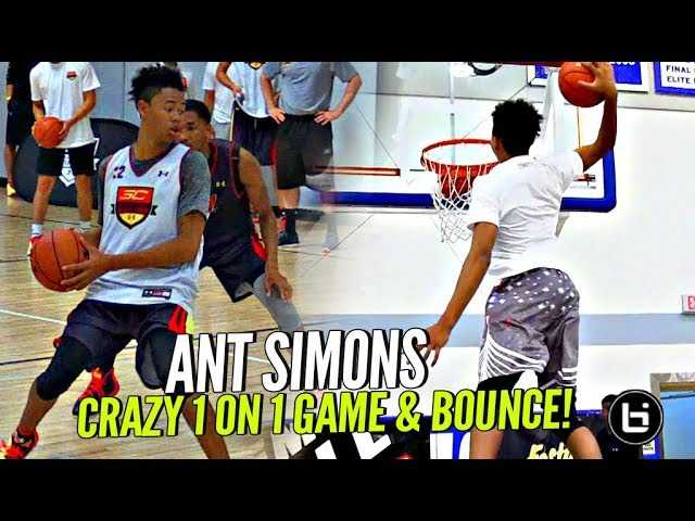 Anfernee Simons 1 on 1 King of Court KILLIN' IT! Boy Got MAD RANGE & BOUNCE!