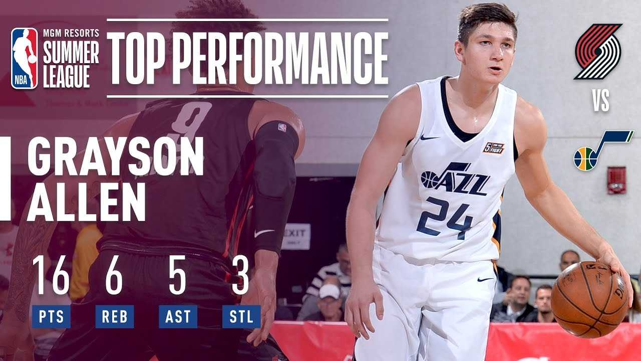 Grayson Allen With The All Around Performance In 2018 MGM Resorts Las Vegas Summer League!