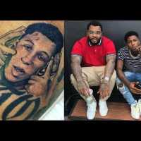 Kevin Gates Tattoos a picture of NBA Youngboy Face on him.