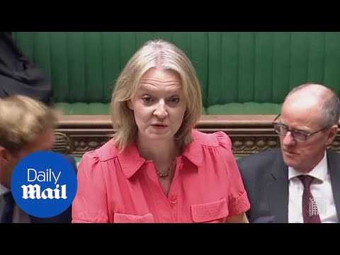 Liz Truss announces public sector pay rises in the House of Commons - Daily Mail