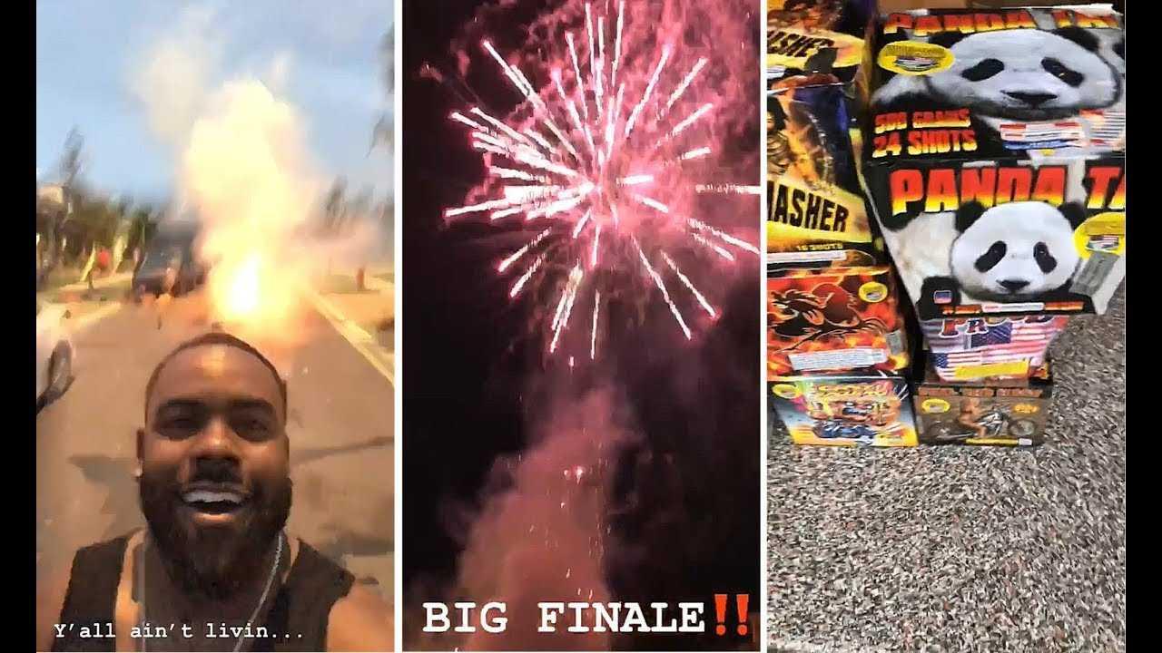 Mark Ingram Celebrates 4th Of July With Fireworks Show