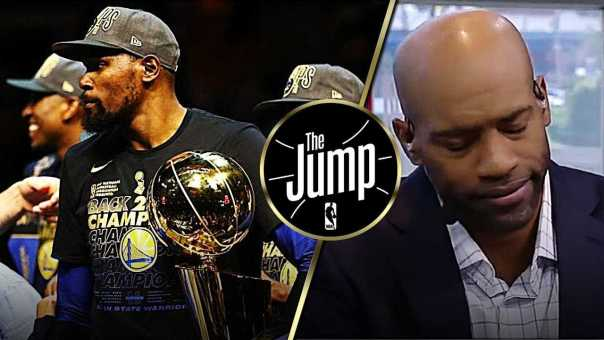 McGrady & Carter On Kevin Durant Saying He's Not Happy Winning 2 Championships | The Jump