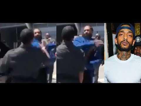 Nipsey Hussle slaps the Infinity Stones out of BET Awards Employee. He gets arrested afterwards.