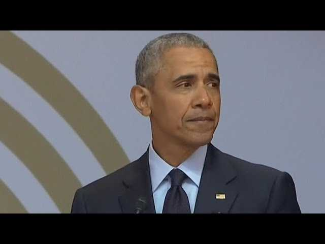"Obama references ""strange, uncertain times"" in speech commemorating Nelson Mandela's birthday"