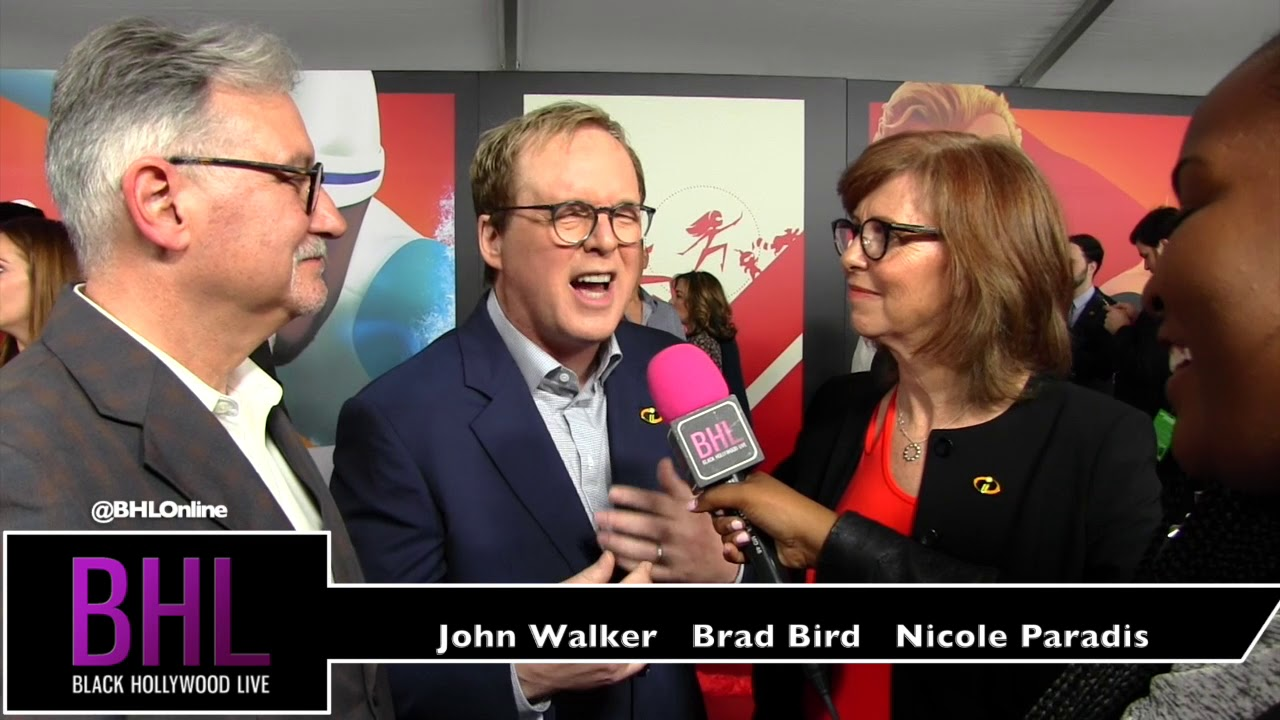 The Incredibles 2 World Premier in Hollywood | John Walker, Brad Bird, Nicole Paradis Grindle