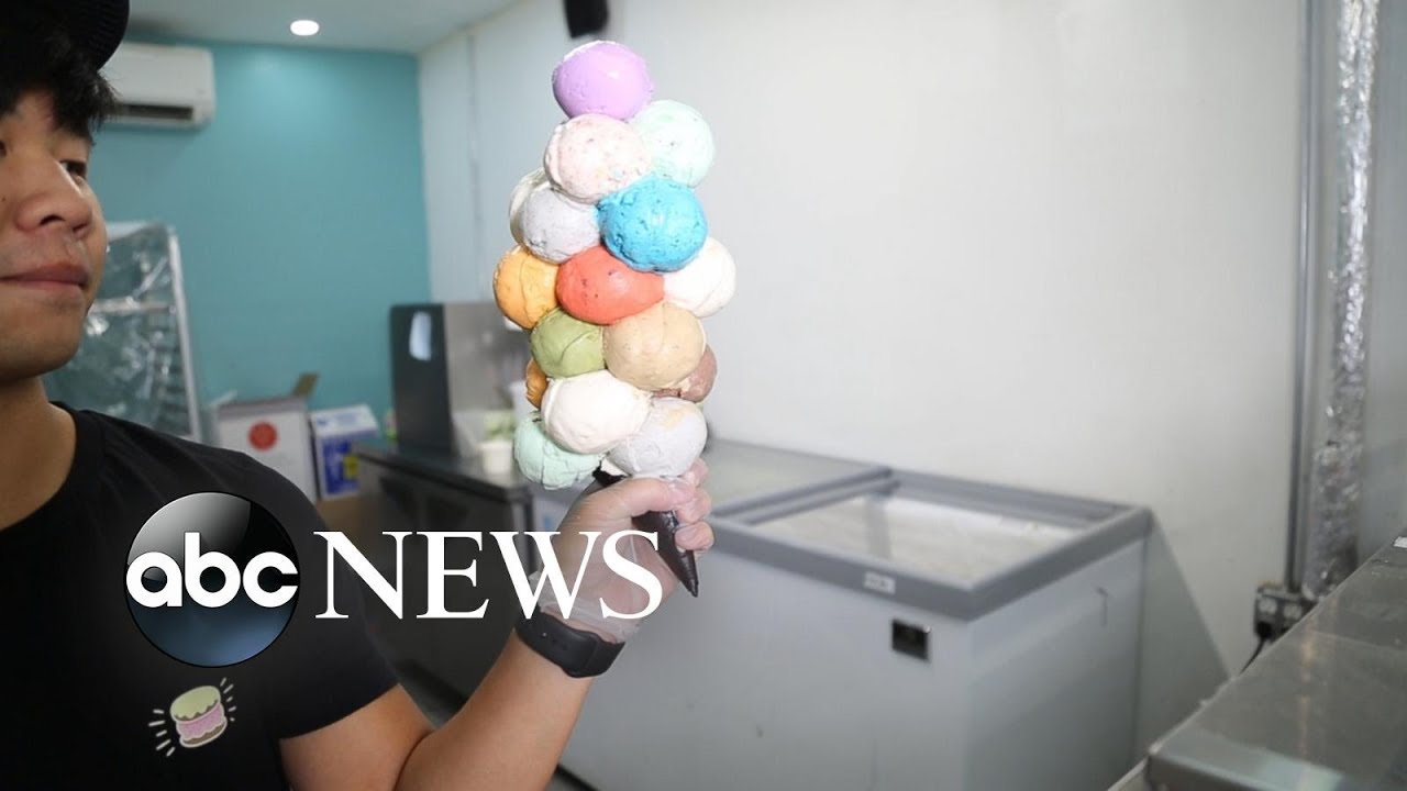 This NYC shop creates ice cream 'bouquets' featuring up to 21 scoops on a single cone