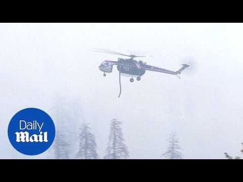 Wildfires cause evacuation of heart of Yosemite National Park - Daily Mail