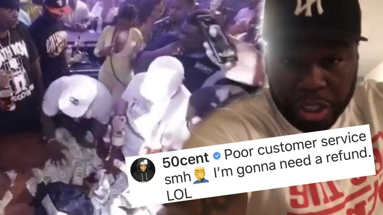 50 cent jokes about taking money back from dancer 😂🤷🏼‍♀️😩😩