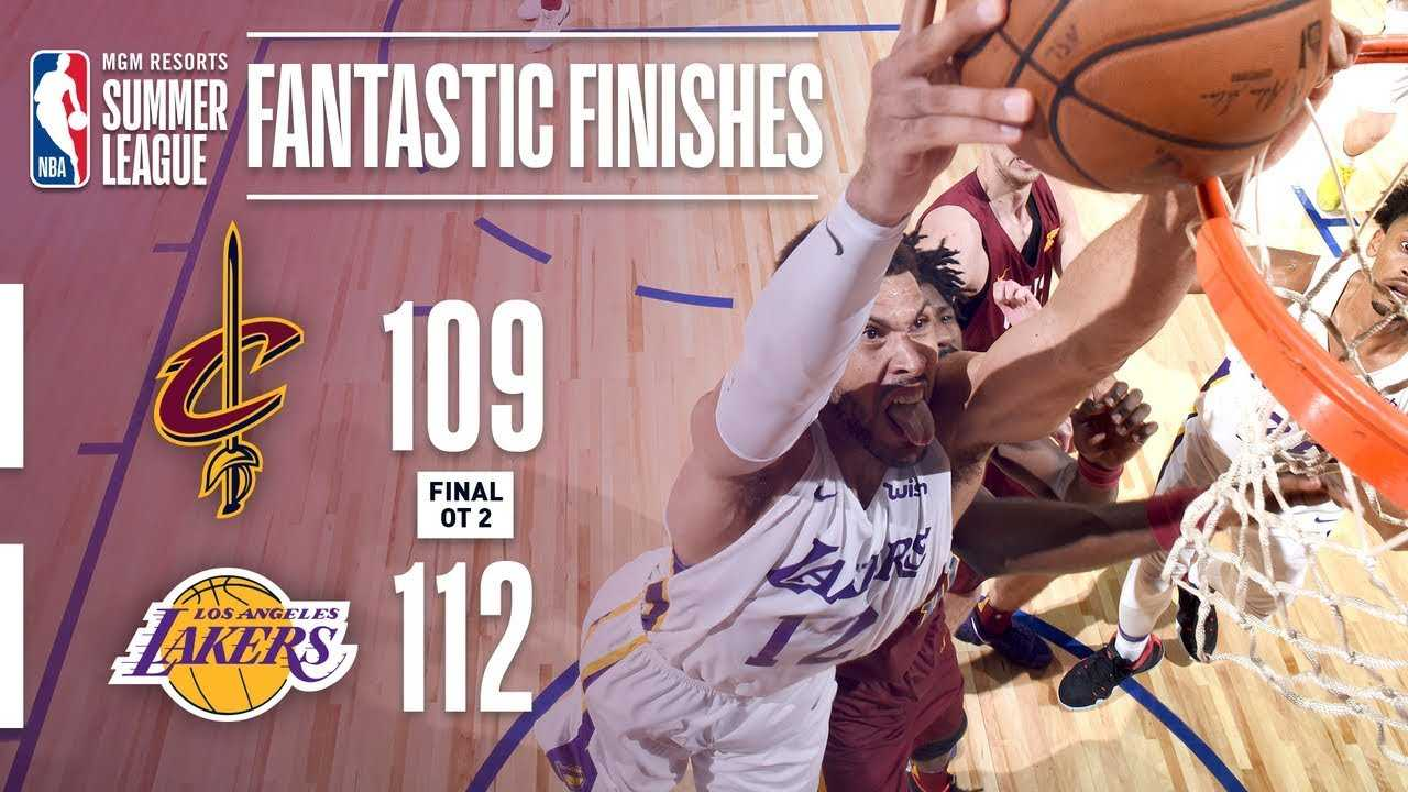 Lakers and Cavaliers Battle in Double Overtime Thriller   2018 MGM Resorts Summer League