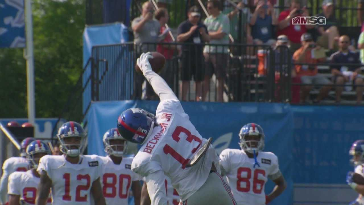 Odell Beckham Looks Dominant in Giants Joint Practices With Lions