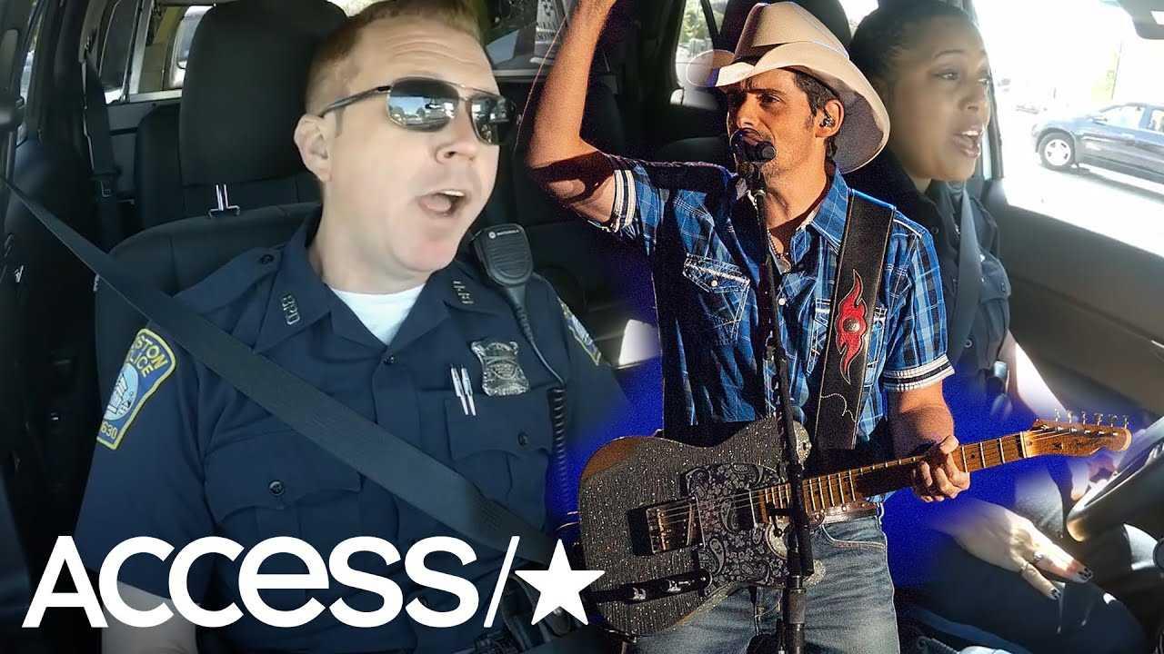 Police Officers In Viral 'Cop Pool Karaoke' Video Sing At Brad Paisley Concert