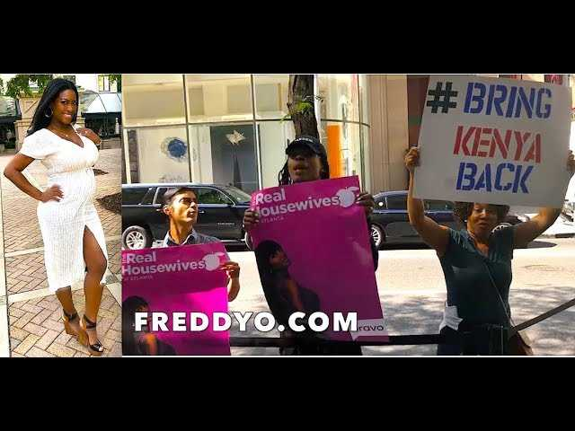 SHOCKING VIDEO: Kenya Moore Fans Boycotting Bravo Over Her 'RHOA' Firing