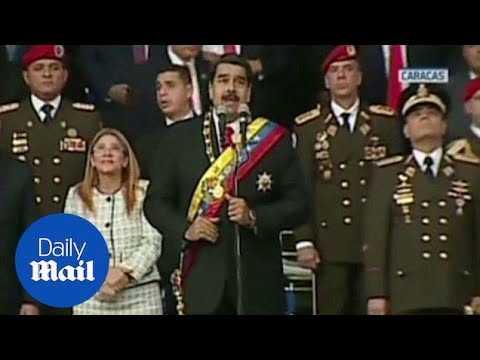 Venezuelan President Nicolas Maduro evacuated from speech - Daily Mail