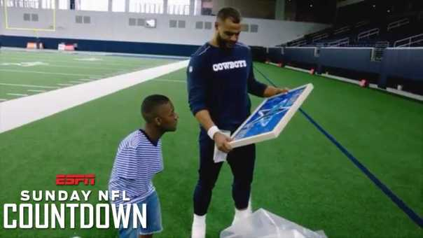 Cowboys QB Dak Prescott inspired by artist born without arms | NFL Countdown | ESPN