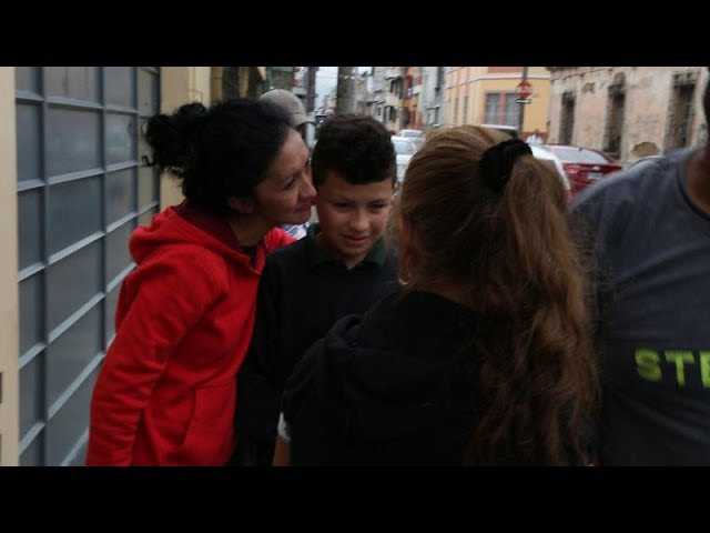 Erik Lanuza reunites with his family after four months   Los Angeles Times